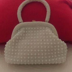 Handbags - Vintage White Beaded Purse
